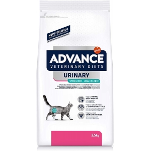 ADVANCE Veterinary Diets Cat Urinary Sterilized Low Calorie 2,5kg